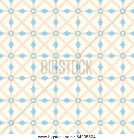 Orange Asterisk And Circle And Triangle Seamless Pattern