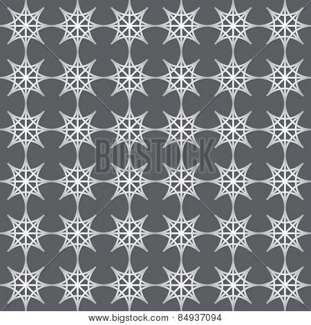 Silver Double Star And Circle Seamless Pattern On Pastel Color
