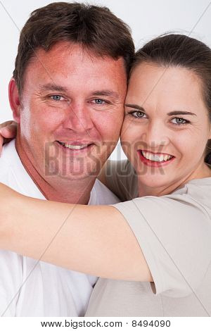 happy middle-aged couple