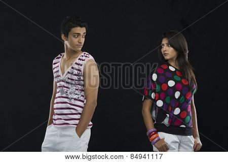 Couple disinterested in each other
