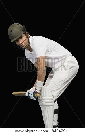 Cricket batsman playing cricket