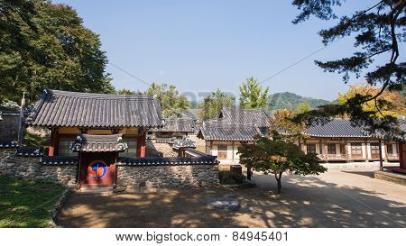Yeongju, Korea - October 15, 2014: Whole View Of Sosuseowon
