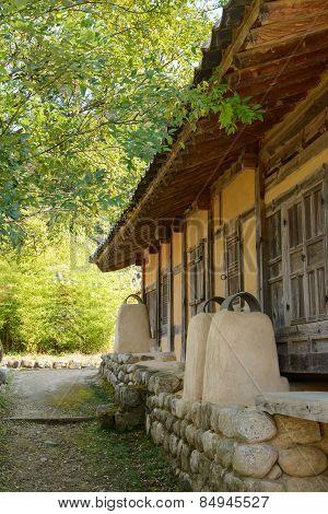 Yeongju, Korea - October 15, 2014: Korean Traditional House Chimney