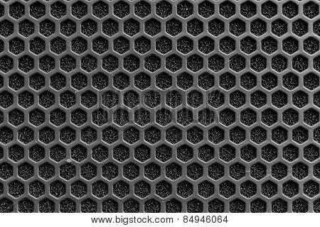 Black Speaker Mask Beehive Pattern