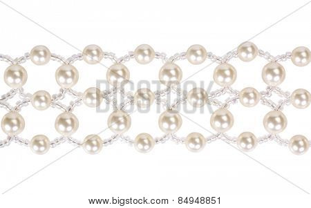 Close-up of a pearl choker