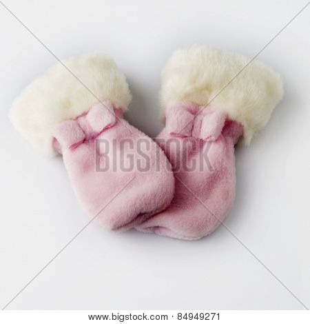 Close-up of pair of baby booties