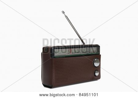 Close-up of radio