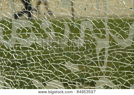 Close-up of a shattered glass