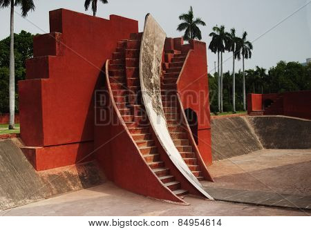 Historic observatory, Jantar Mantar, New Delhi, India