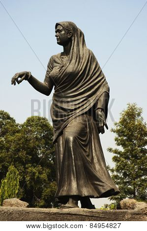 Statue depicting historic Dandi March, Gyarah Murti, Sardar Patel Marg, New Delhi, India
