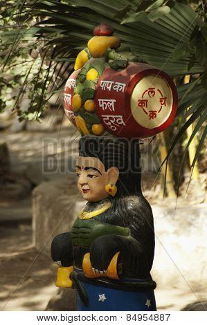 Statue at a temple, Lakshmi Narayan Temple, New Delhi, India