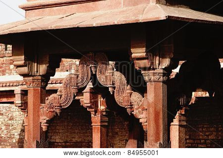 Architectural detail of a palace, Fatehpur Sikri, Agra, Uttar Pradesh, India