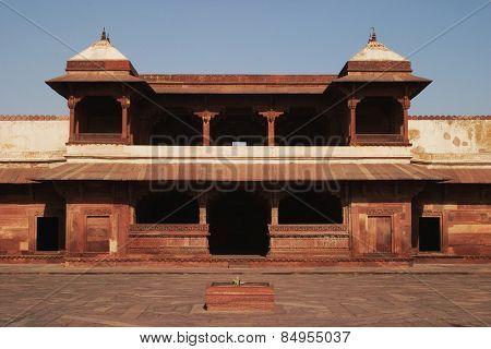 Facade of a palace, Fatehpur Sikri, Agra, Uttar Pradesh, India
