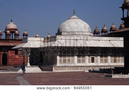 Facade of a mausoleum, Tomb Of Sheikh Salim Chisti, Fatehpur Sikri, Agra, Uttar Pradesh, India