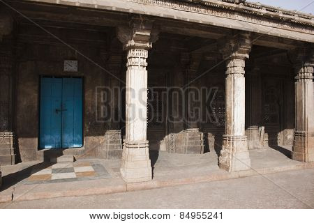 Colonnade in a mosque, Sayad Sidi Mosque, Ahmedabad, Gujarat, India