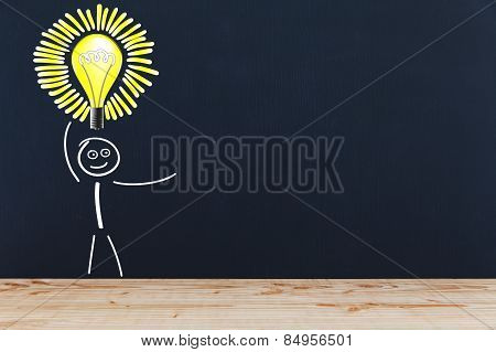 Stick Figure With Light Bulb