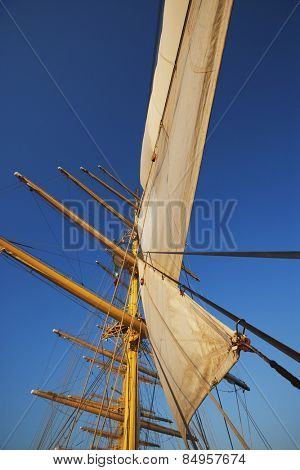 Low angle view of a clipper ship, Amalfi, Province Of Salerno, Gulf Of Salerno, Tyrrhenian Sea, Campania, Italy