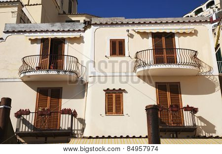 Low angle view of a building, Amalfi, Province Of Salerno, Gulf Of Salerno, Tyrrhenian Sea, Campania, Italy