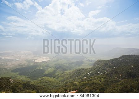 Clouds over the landscape, Yercaud, Tamil Nadu, India