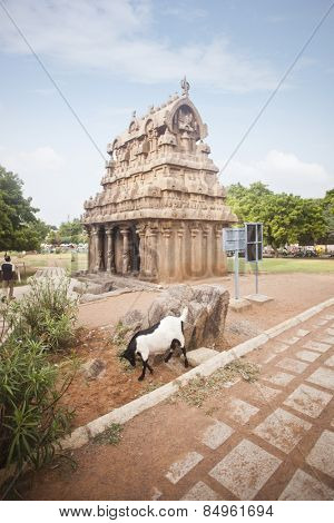 Ancient Ganesh Ratha Temple at Mahabalipuram, Kanchipuram District, Tamil Nadu, India