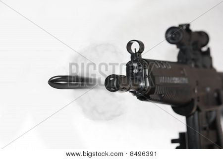 Detail of Bullet leaving Gunbarrel