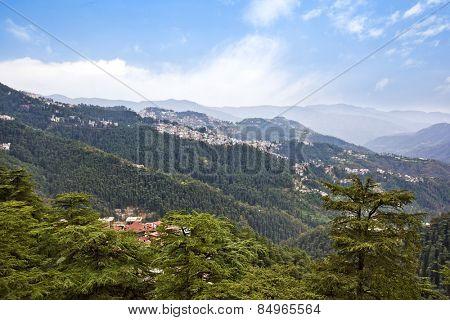 Clouds over mountains, Shimla, Himachal Pradesh, India