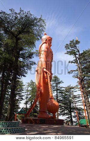 Lord Hanuman statue at Jakhoo Temple, Jakhoo Hill, Shimla, Himachal Pradesh, India