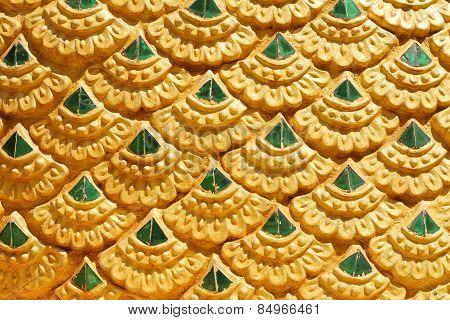 Gold Thai Art Stucco Wall,thai Temple