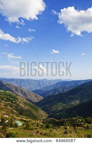 Clouds over mountain range, Kufri, Shimla, Himachal Pradesh, India