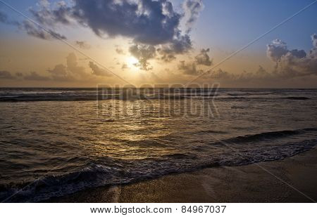 Sunset over the sea, Varkala, Kerala, India