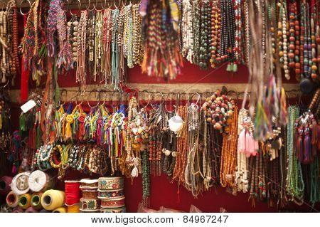 Craft products for sale at a souvenir shop, Tibetan Market, Delhi, India