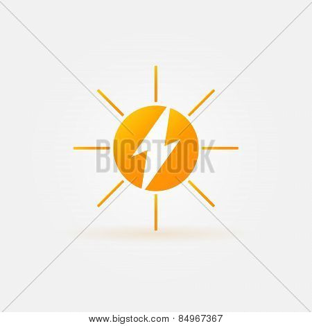 Rechargeable energy from sun vector icon