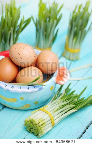 Ramson And  Eggs