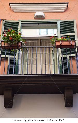 Balcony of a house, Ravello, Amalfi Coast, Salerno, Campania, Italy