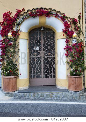 Entrance of a building, Ravello, Amalfi Coast, Salerno, Campania, Italy