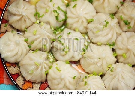 Khinkali With Onions