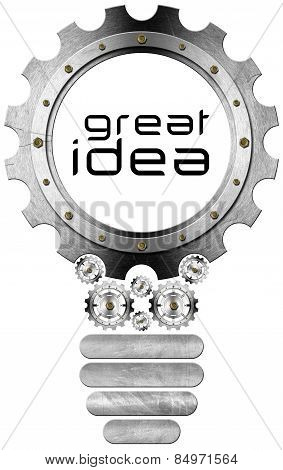 Great Idea - Light Bulb And Gears