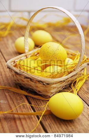 Easter Still Life Yellow Eggs