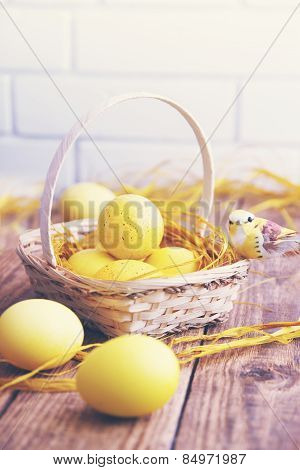 Easter Still Yellow Eggs, Tinted