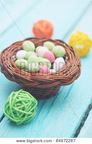Basket With Candy
