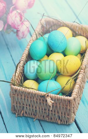 Large Basket Of Eggs, Tinted