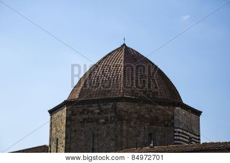 Dome of a baptistery, Baptistery of San Giovanni, Volterra, Province of Pisa, Tuscany, Italy