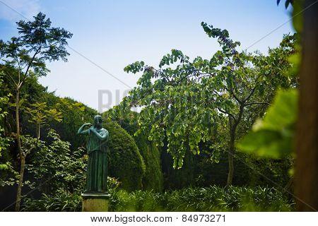 Statue in the garden, Villa Cimbrone, Ravello, Province of Salerno, Campania, Italy