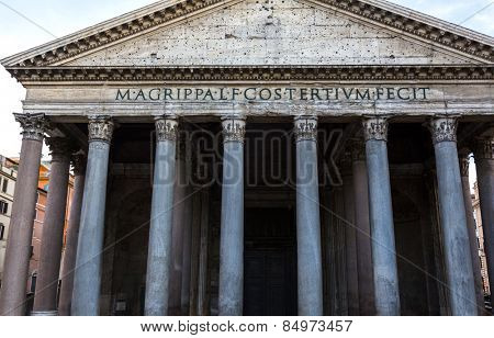 Low angle view of Pantheon, Pantheon Rome, Rome, Rome Province, Lazio, Italy