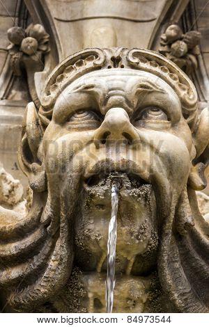 Fountain in Piazza della Rotonda, Rome, Rome Province, Lazio, Italy
