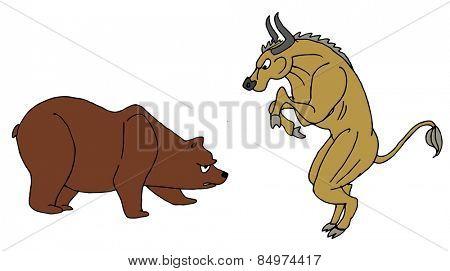 Illustrative representation of Bull and Bear