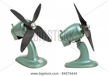 vintage fan (industrial design) - two perspectives