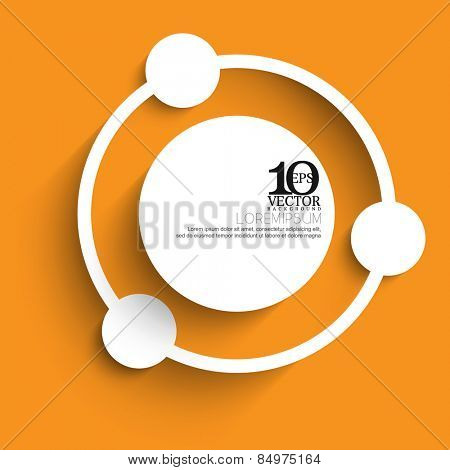 eps10 vector white silhouette round blank space circle cartoon style background design