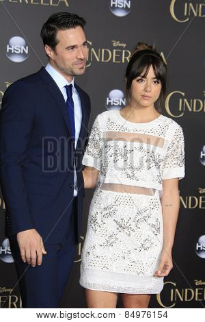 LOS ANGELES - MAR 1:  Brett Dalton, Chloe Bennet at the
