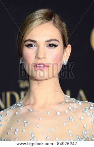 LOS ANGELES - MAR 1:  Lily James at the